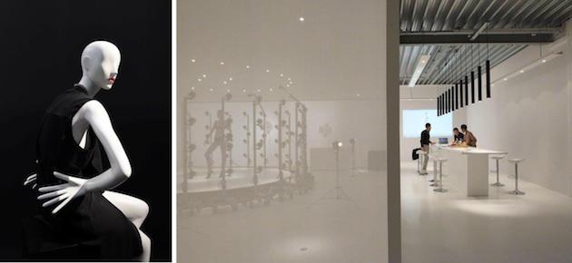 """Od lewej: I. subtelna, eteryczna sylwetka manekina odpowiedzią na zapotrzebowanie klientów, II. """"szycie na miarę"""" jako nowa filozofia projektowania manekinów, przy ścisłej współpracy z odbiorcą / Window France, fot. mhshowroom"""