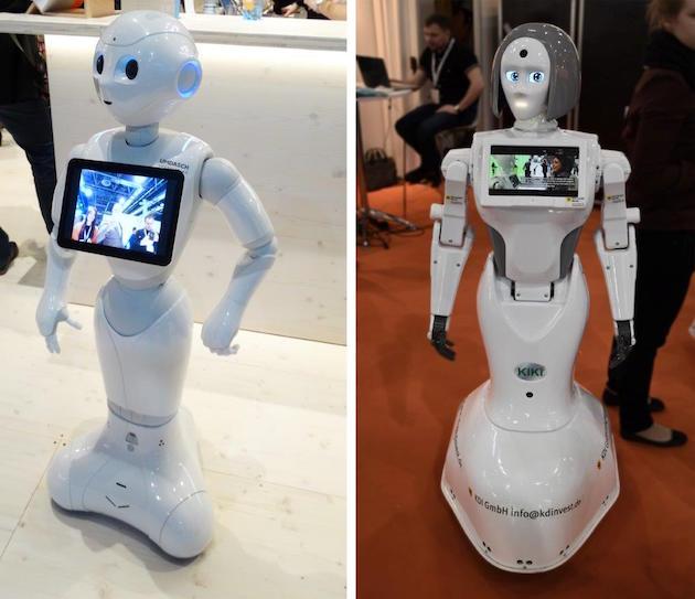 Przyszłość zapisana w technologii – inteligentne roboty. Od lewej: Umdasch Shopfitting, Kdi GMBH, fot. mhshowroom