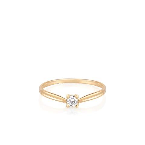 W.KRUK, kolekcja Przyjaźń, pierścionek, żółte złoto, cyrkonia, cena 459 zł (3)