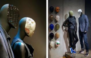 Haans Boodt Mannequins – hitem tegorocznych targów okazały się wymienne twarze manekinów, które pozwalają na wyraźne zmiany na witrynach sklepowych. Euroshop 2014. Fot. mhshowroom