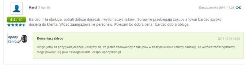 Komentarz Opony