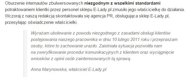 Oswiadczenie E-Lady