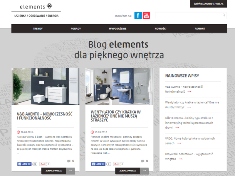 Blog firmowy, via: blog.elements-show.pl