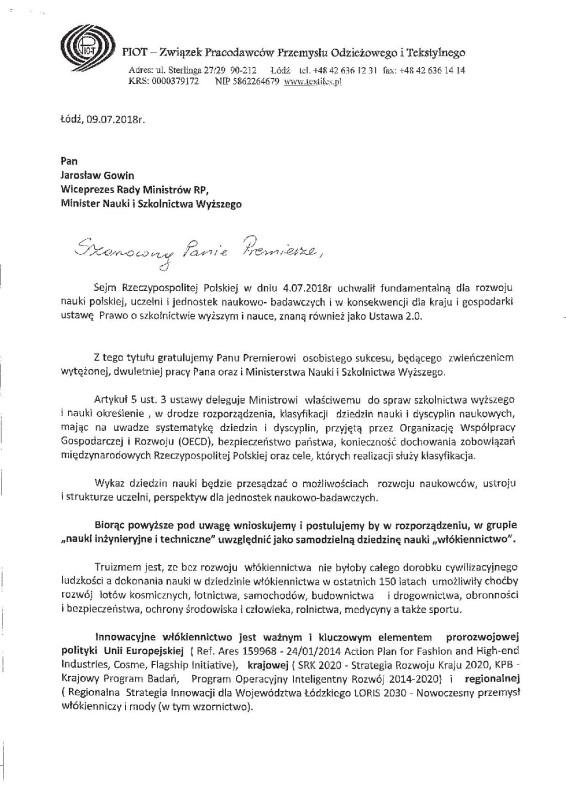 pismo-do-Jaroslawa-Gowina
